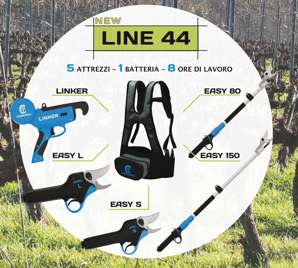 Other Agriculture & Forestry Business & Industrial Forbici Elettriche 36mm Su Asta Easy 150 Kit Completo
